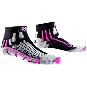 X-Socks Run Speed Two Calze da corsa Donna rosa/nero